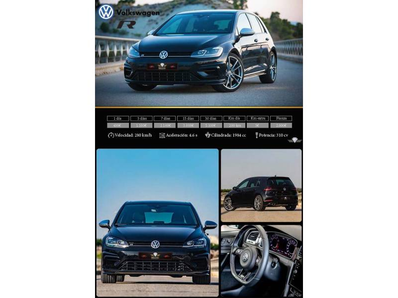Volkswagen Golf 2.0 TSI 228kW (310CV) 4Motion DSG R