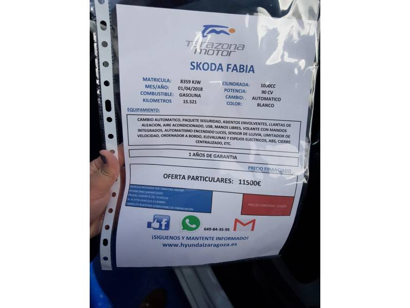 Skoda Fabia 1.0 TSI 70KW (95cv) Style