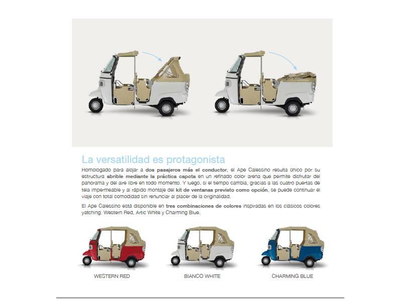 Piaggio Comerciales APE Nuevo Ape Calessino 200