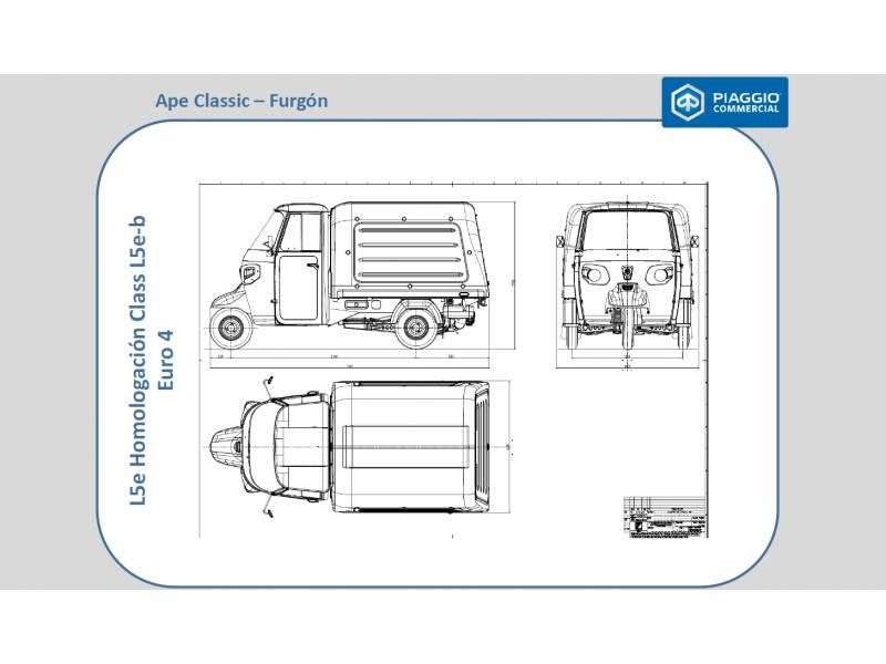 Piaggio Comerciales APE Ape Classic Van 400 diesel  435 cc